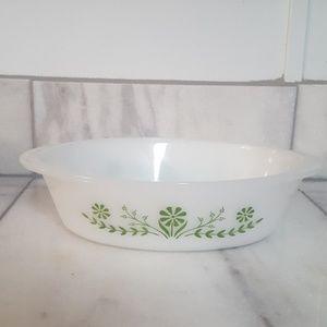 Vintage Glasbake bakeware glass dish